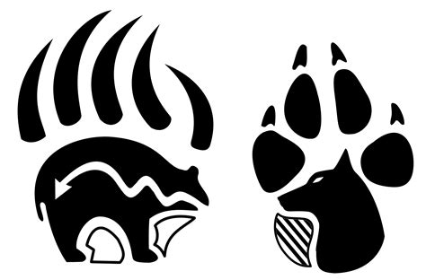 tribal bear claw tattoo tribal wolf paw if books could talk drawings