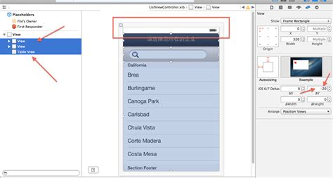 layout uiview interface builder what are the uiview s layout ios 6 7