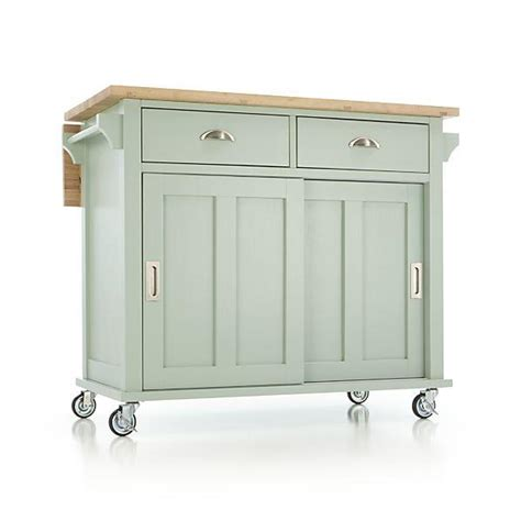 belmont kitchen island belmont mint kitchen island crate and barrel