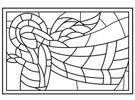 christian mosaic coloring pages christmas stained glass with angel coloring page free