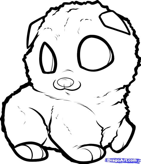 how to draw a pomeranian puppy how to draw a pomeranian puppy pomeranian puppy step 6