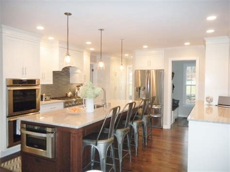 Shore And Country Kitchens by Contrasting Island Traditional Kitchen New York By Shore Country Kitchens