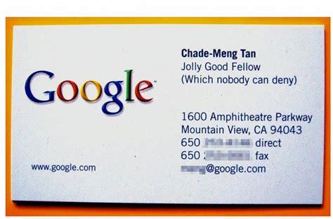 google id card design google jolly good fellow chade meng tan business insider