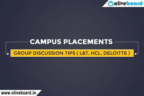 Gd Topics For Mba Placements by Discussion Tips Topics For Cus Placements L T