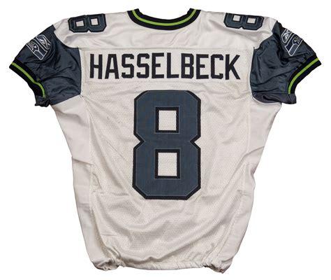 blue matt hasselbeck 8 jersey p 96 lot detail 2006 matt hasselbeck used seattle