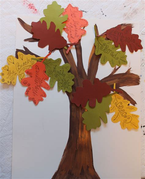 tree craft for thanksgiving craft for a gratitude tree