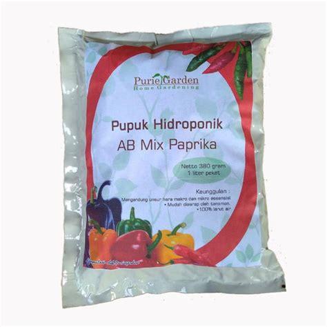 Pupuk Nutrisi Hidroponik Ab Mix Cabai Paprika Cabe Hs 0 5 Liter jual puriegarden nutrisi hidroponik ab mix paprika cabe