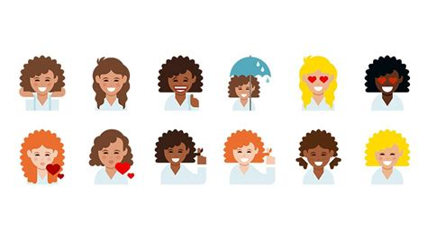 hairstyles emoji curly haired women now have their own emoji