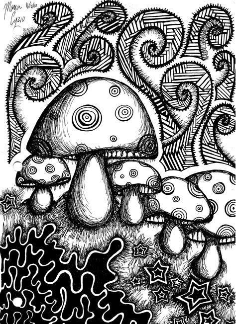 Cool Things To Draw Advanced by 50 Trippy Coloring Pages