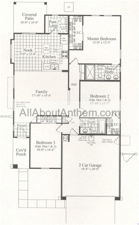 del webb anthem floor plans 1435 sensation all about anthem arizona