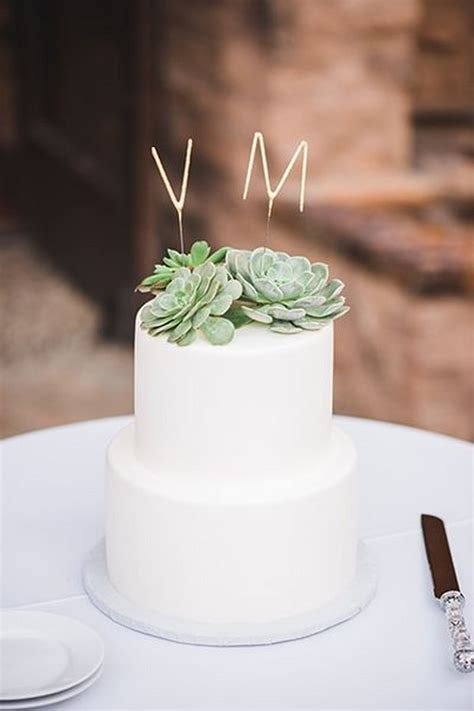 adorable wedding cakes  succulents emmalovesweddings