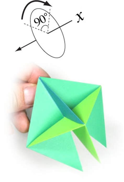 Top Origami - how to make a traditional origami top page 12