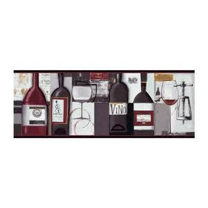 Wine And Grapes Kitchen Decor Contemporary Wine Wallpaper Border Bg1682bd Wine Bottle