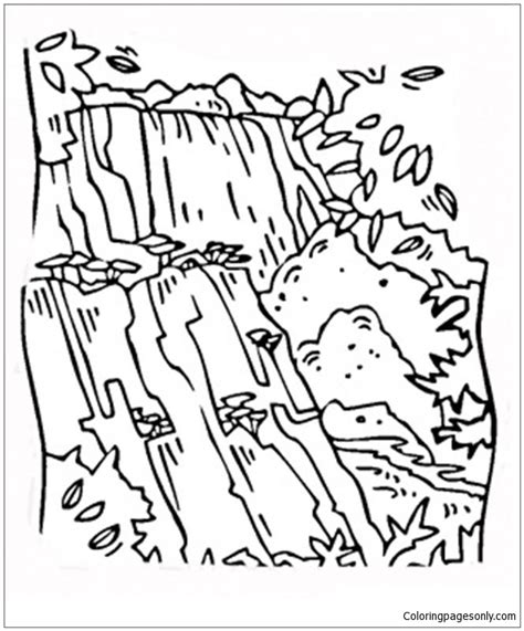 coloring page of niagara falls niagara falls coloring page diannedonnelly com