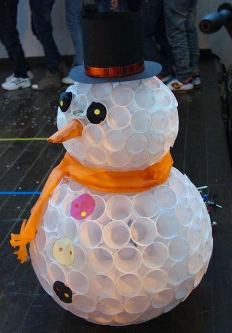Pupazzi Di Neve Con Bicchieri Di Plastica 22 Idee Per Lavoretti Con Bicchieri Di Plastica Per