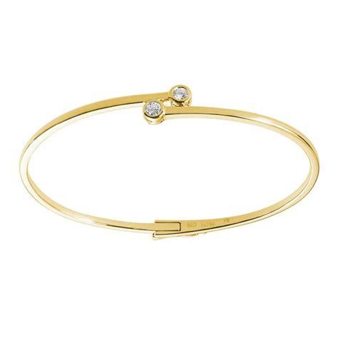 0.21ct F I1 Diamond Bangle Bracelet Bezel Set