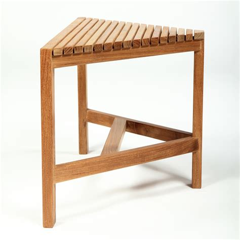 arb teak specialties ben529 teak corner shower bench