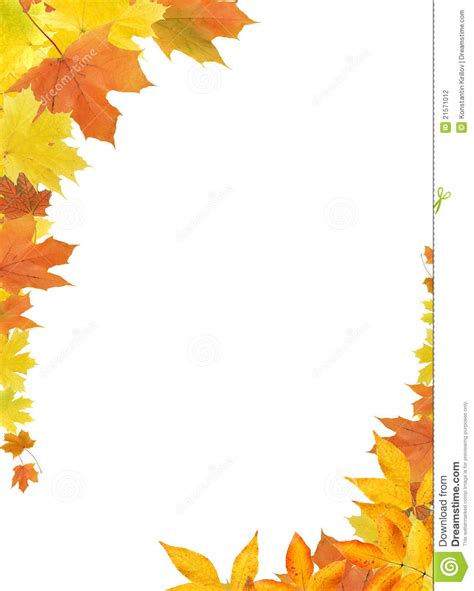printable fall leaves border free coloring pages of autumn border