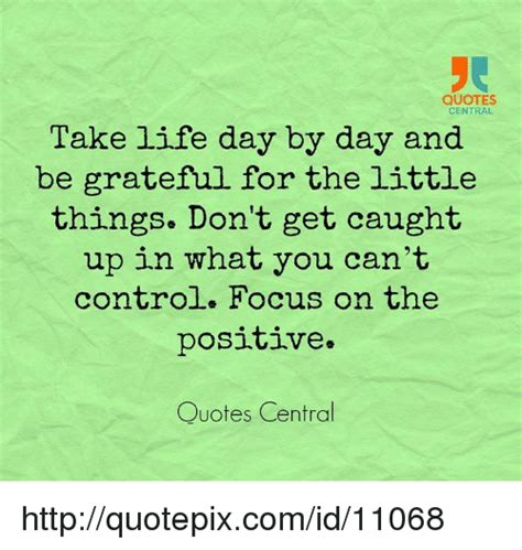 Take Life Day By Day And Be Grateful For The Little Things - quotes central take life day by day and be grateful for