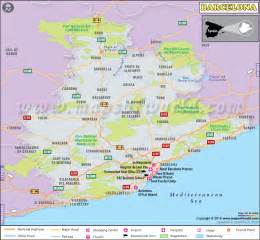 Map Of Barcelona Spain by Barcelona Map City Map Of Barcelona Spain