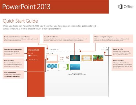 Powerpoint 2013 Quick Start Guide Microsoft Powerpoint Templates Search
