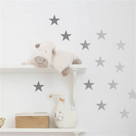 Star Wall Stickers Uk metal effect confetti stars wall stickers by nutmeg