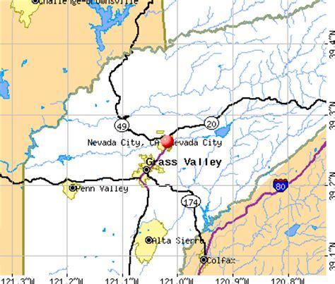 california map nevada city nevada city california ca 95959 profile population