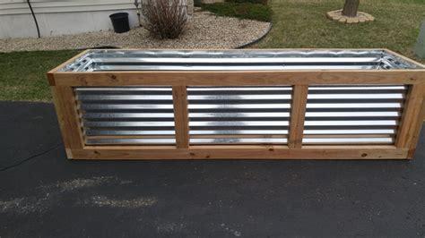 Planter Box By Ldc Lumberjocks Com Woodworking Community Corrugated Metal Planter Box