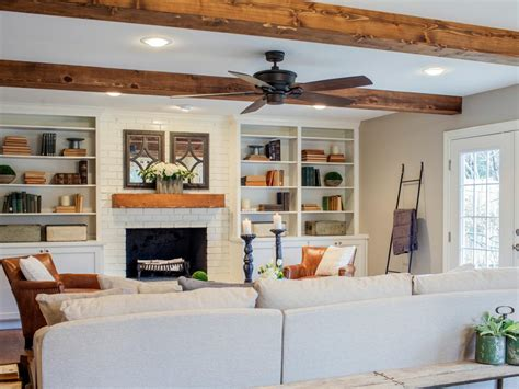 exposed wood beams as seen on fixer upper the haires new den has exposed
