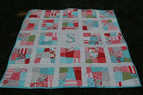 Patchwork Patterns For Baby Quilts - pdf scrappy initial quilt pattern baby quilt by dahliainbloom