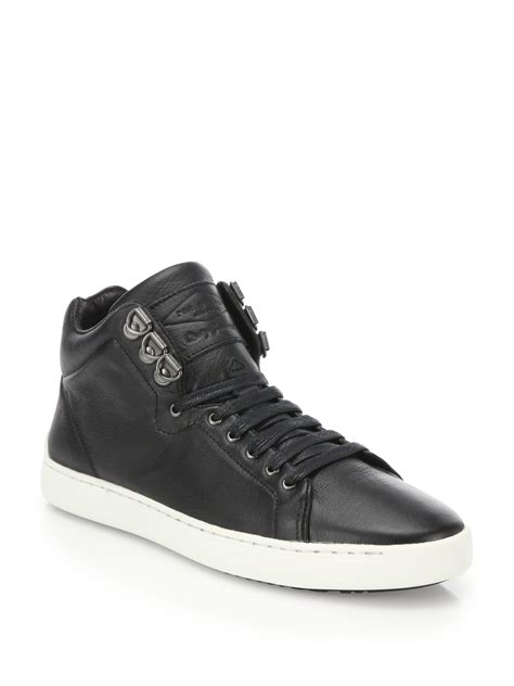 best leather sneakers rag bone kent leather high top sneakers in black for
