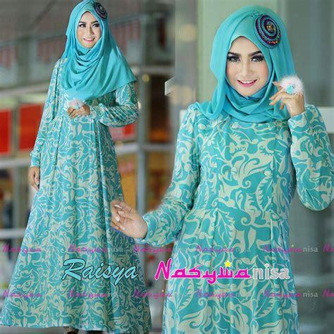 Baju Muslimah Esme E 010311 Pink Summer Dress raisya biru toska baju muslim gamis modern