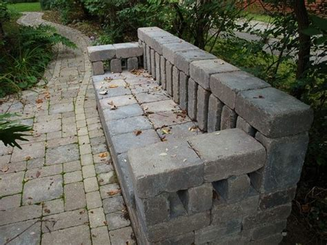 cinder block bench with back brick bench back yard ideas of course would have to add