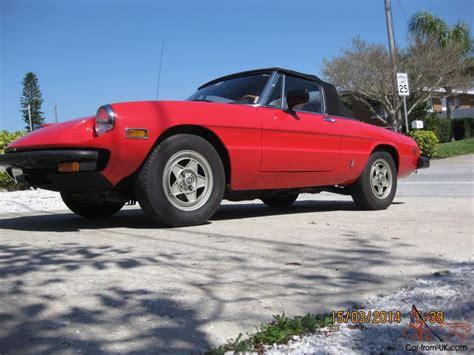 1982 alfa romeo spider 1982 alfa romeo spider veloce