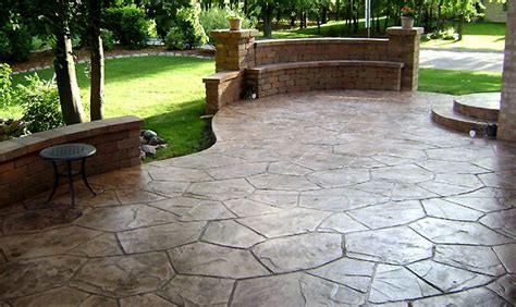 sted concrete patio with wall house wants