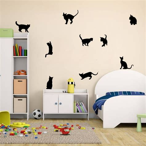 wall stickers nursery uk cats wall stickers vinyl home decal diy decor nursery room mural uk ebay