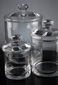 set of 3 clear glass apothecary canister jars 5 quot 7 quot 9