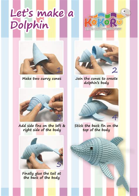 How To Make Paper Dolphin - how to make dolphin kokoru kokoru how to make