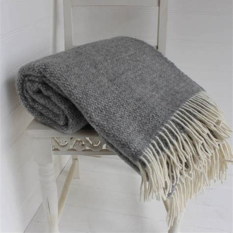 Wool Blankets And Throws by Grey And Wool Throw By Marquis Dawe