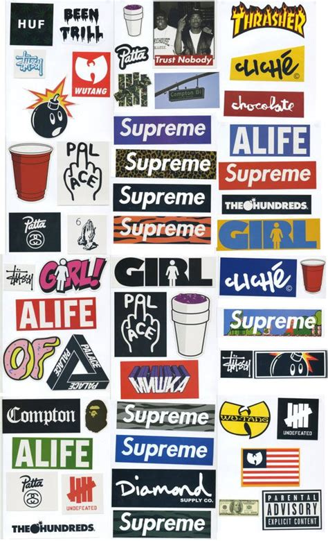 supreme stickers supreme sticker pack 54 stickers free by
