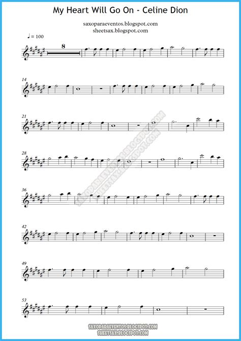 Titanic   My heart will go on music score (Sheet music and