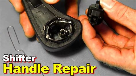 How To Change A Shifter Knob by 2003 2006 Honda Accord Broken Shifter Button Replacement