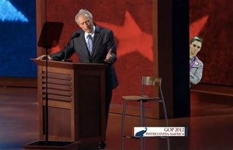 Clint Eastwood Empty Chair by Clint Eastwood S Empty Chair Goes Viral