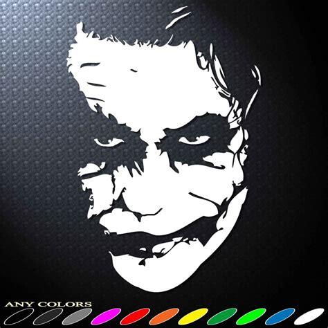 Bike Sticker Joker by 6 0 Quot X1pc Jester Joker Batman Decals Sticker Die Cut