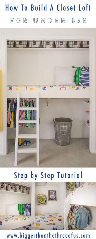 How To Make A Closet Bigger by How To Build A Closet Loft