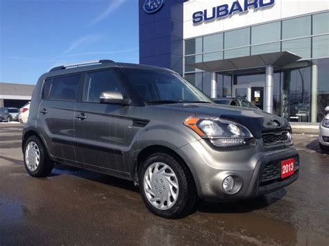 Kia Kingston Ontario 2013 Kia Soul 2u Grey Subaru Of Kingston Wheels Ca
