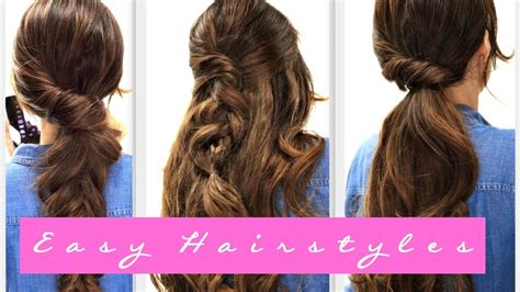 everyday hairstyles for long hair step by step 4 easy lazy hairstyles fall hairstyle for medium long