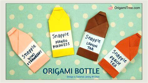 Origami Bottle - origami bottle snapple inspired 187 origamitree