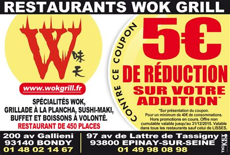 Wok Grill Rosny by 117 Bons De R 233 Duction 224 93