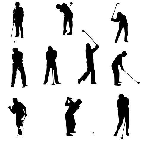 golf swing vector golf silhouettes free stock photo public domain pictures